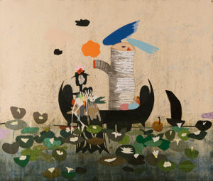T. L. Solien, Waterlilies, 2007 Mixed media on paper 30 5⁄8 x 35 1⁄2 in.